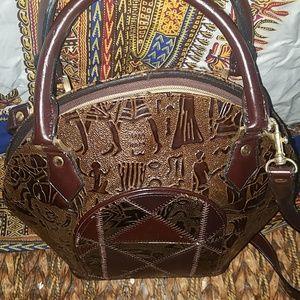 Handbags - Egyptian embossed vegan leather  handbag